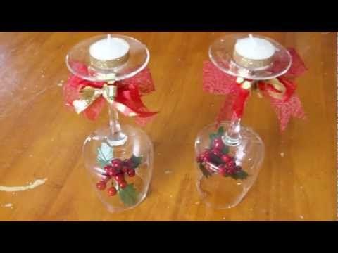 Centro de velas con copa youtube casita pinterest - Youtube centros de mesa navidenos ...