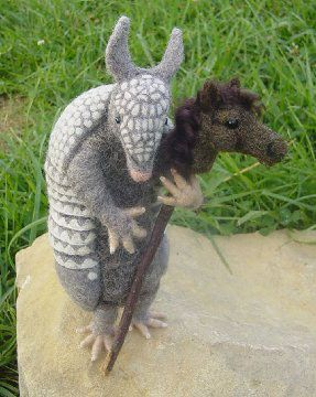Such a charming armadillo by Motley Mutton - Gallery of Past Work by Nancy Bevins