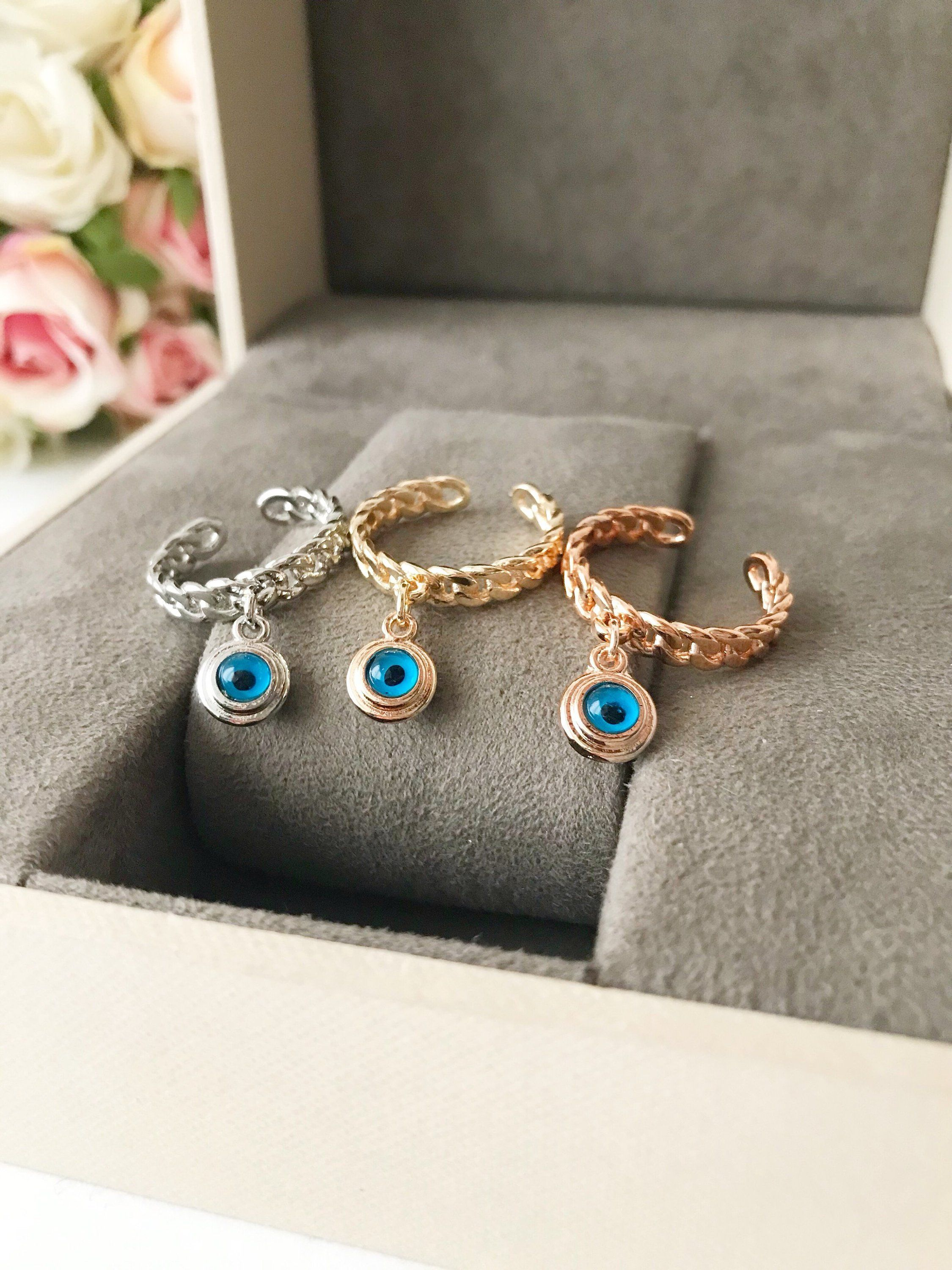 397ed2bd0082c2 Cubic Zirconia Rings · Gold And Silver Rings, Rose Gold Jewelry, Evil Eye  Ring, Greek Jewelry,