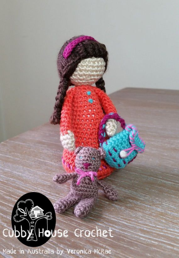 Amigurumi Backpack And Doll Animal Free Crochet Pattern ... | 822x570