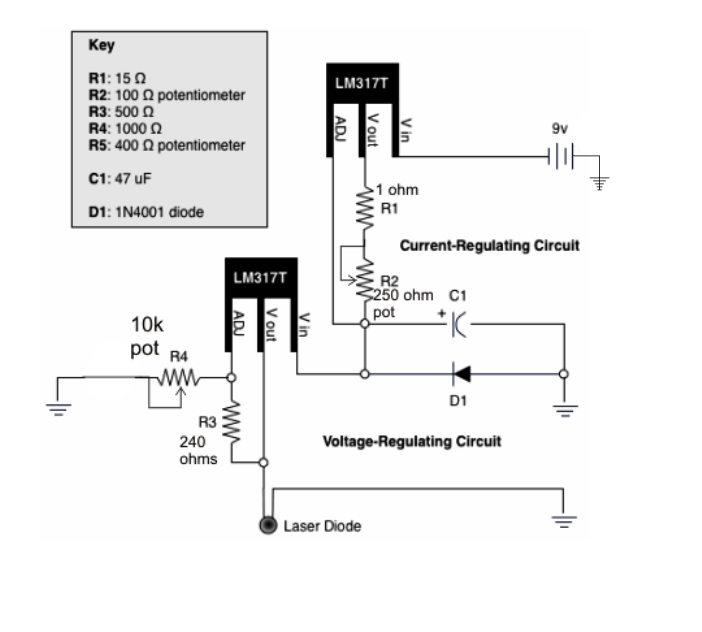 LM317 as a Variable Voltage Regulator and Variable Current