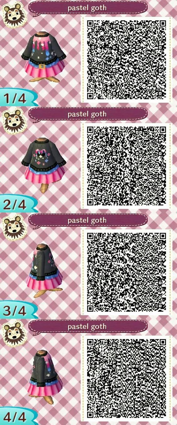 Pastel Goth Qr Code For Acnl Credit Unknown Pls Let Me Know If