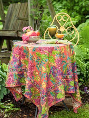 Veranda Tablecloth   Coral | Table Linens U0026 Kitchen, Tablecloths :Beautiful  Designs By April Cornell