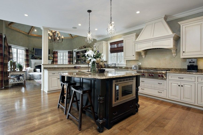 Image result for white cabinets wood floors (With images ...