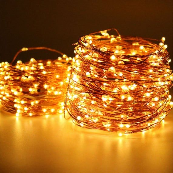 Photo of 100 LEDs, 10 meters,  Fairy Lights, Wedding Decorations lights, LED Mason Jar light Wedding Decor, firefly Lights, Halloween fairy lights