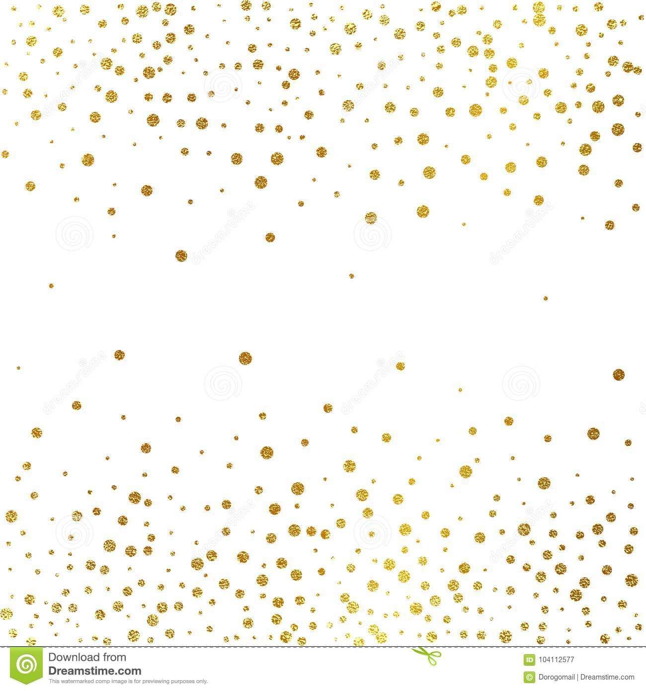 Festive Explosion Of Confetti Gold Glitter Background Golden Dots Vector Illustration Polka Gold Glitter Background Glitter Background Polka Dots Wallpaper