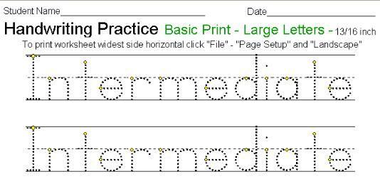 Kidzone Handwriting Generator #1 | grafisme | Pinterest ...