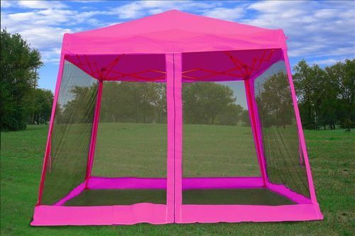 8 X 8 10x10 Pop Up Canopy Party Tent Gazebo Ez W Net Pink Party Tent Gazebo Tent