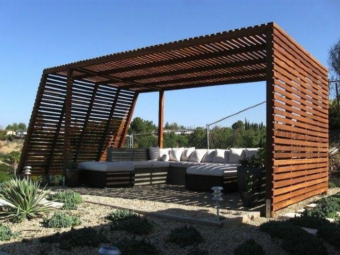 Holz Pergola Garten Moderne Beispiele Alle Ihre Heimat Planen Von ...