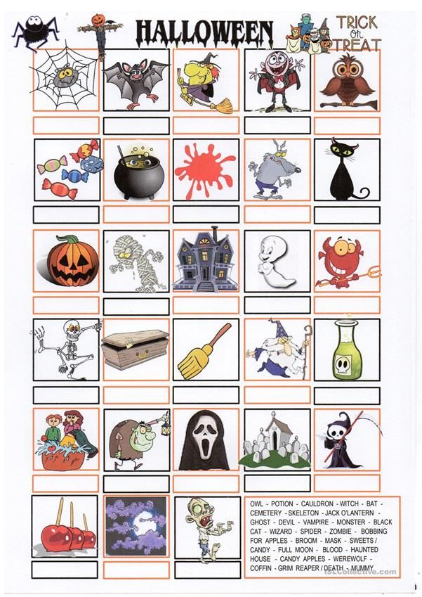 HALLOWEEN pictionary   ESL worksheets of the day   Pinterest ...