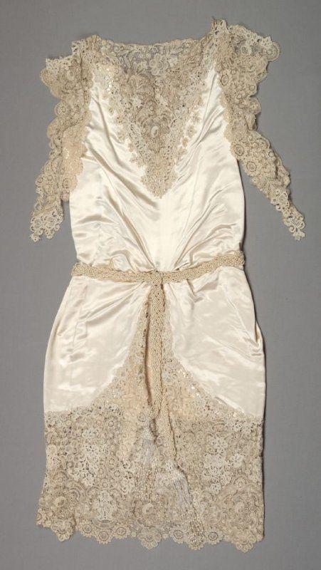 Wedding dress (with slip) Maker: Henri Bendel Date: 1923