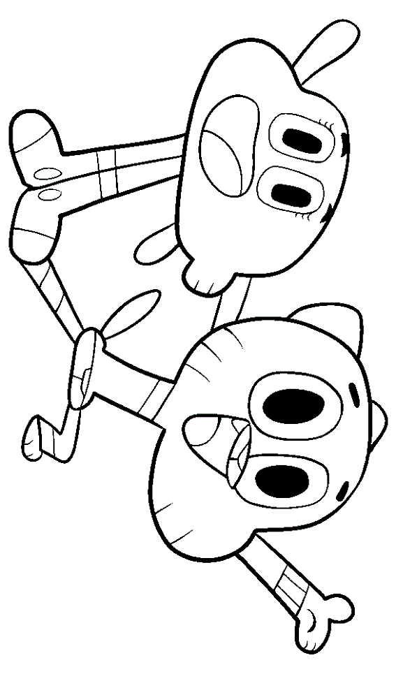 The Amazing World Of Gumball Coloring Pages For Kids Colouring