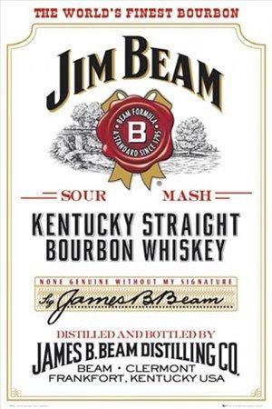 Jim Beam Whiskey Poster Oneposter Com Jim Beam Kentucky Straight Bourbon Whiskey Bourbon Whiskey