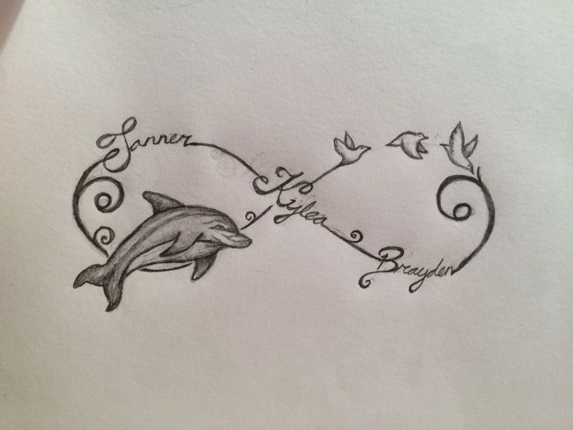 Infinity sign with names dolphin and birds my drawings infinity sign with names dolphin and birds biocorpaavc Images