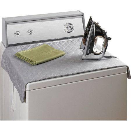De Wrinkle Clothes On Top Of The Dryer With This Magnetic Mat A