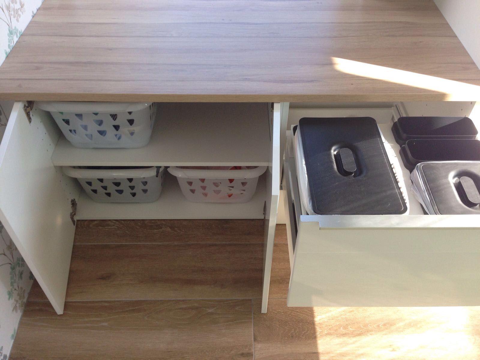 Badkamerkast Met Wasmand.Wasmand Kast Ikea Badkamerkast Met Wasmand 2 Modern Lillngen Kast
