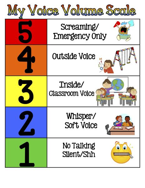 5 Point Voice Scale | PBIS Planning | Voice levels, Voice ...