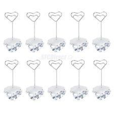 10pc Crystal Heart Base Place Card Name Holder Table Number Decor Wedding Favors