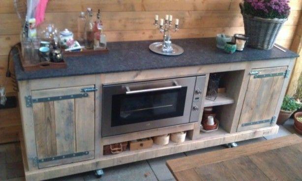 Keuken Aan Tuin : Steigerhout keuken tuin tuin cocinas chimeneas en barra de bar