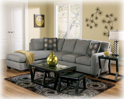 Ashley Furniture Zella Charcoal Left Side Chaise