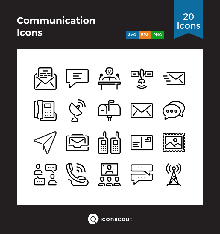 Download Communication Icons Icon Pack Available In Svg Png Eps Ai Icon Fonts Communication Icon Icon Pack Icon