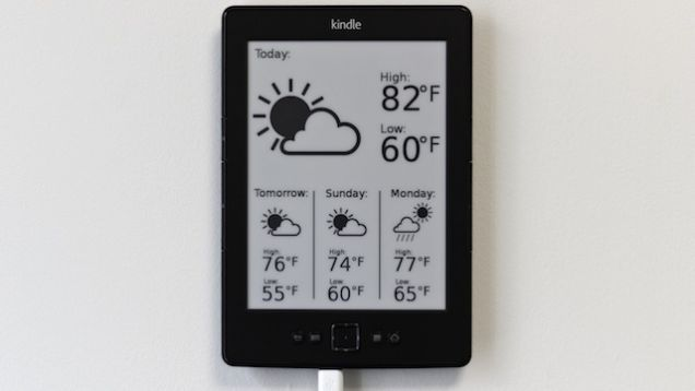 Hack a Kindle Into a Weather Display Weather display