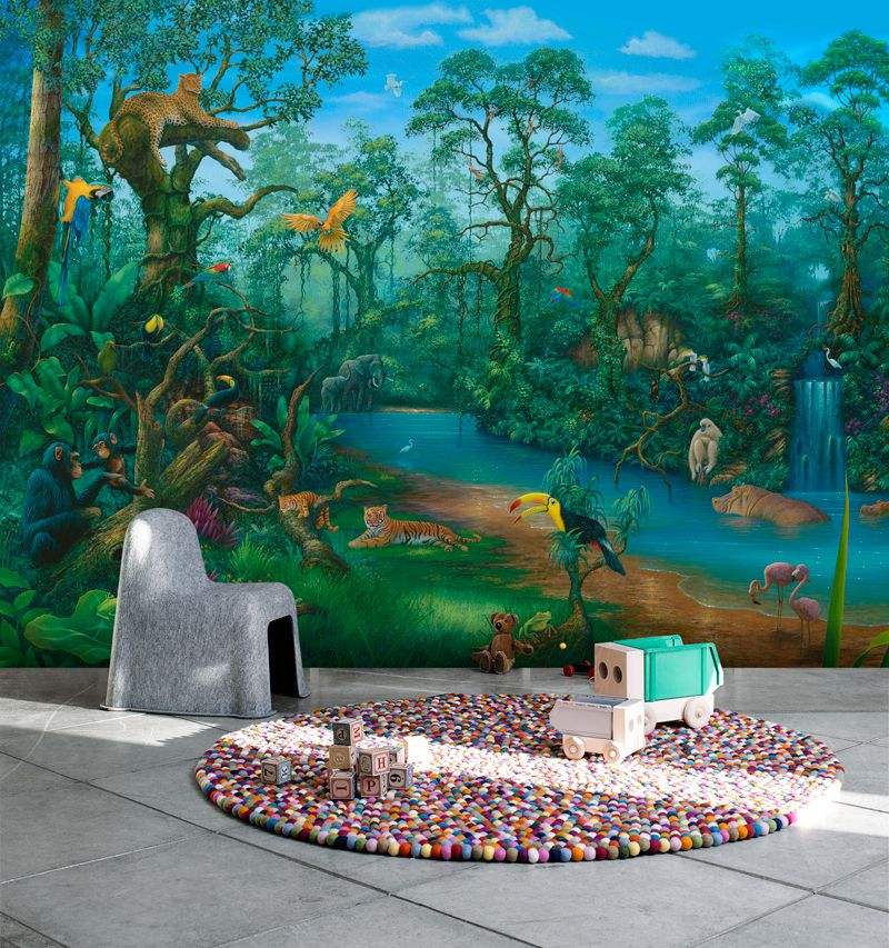 It's a Jungle Out There Wall mural, Wallpaper, Photowall