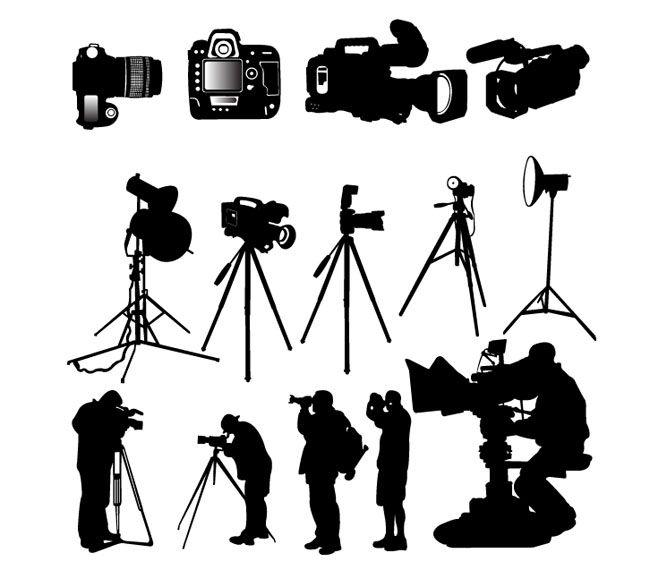 Camera Photographer Silhouette Vector Free Vector Site Download Free Vector Art Graphics Silhouette Vector Camera Silhouette Free Vector Art