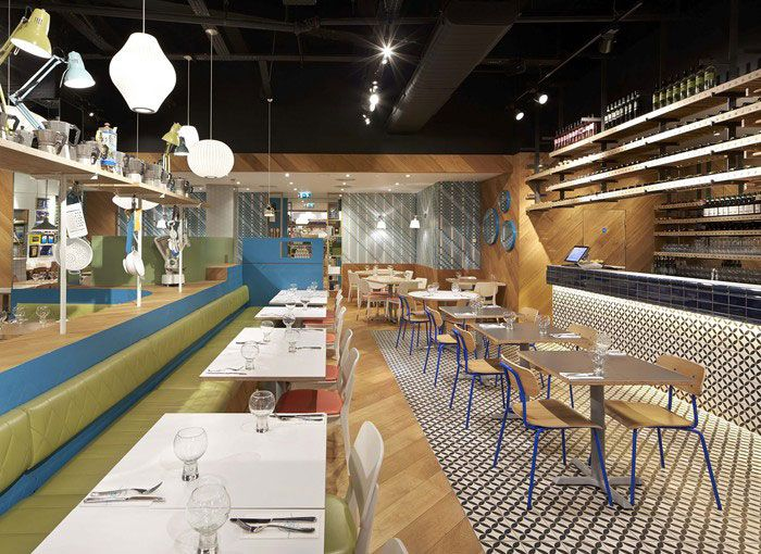 Colorful Ceramic Tiles At The Decor Of An Italian Restaurant