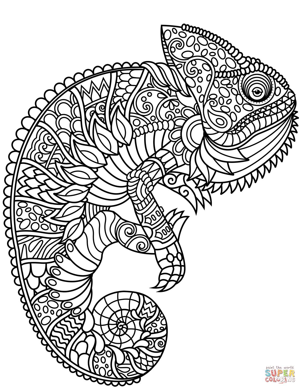 Vysledek Obrazku Pro Chameleon Zentangle Kostenlose Erwachsenen Malvorlagen Geburtstag Malvorlagen Malvorlagen Zum Ausdrucken