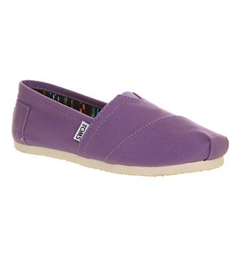 Toms Seasonal Classic Slip On Purple Dahlia Canvas - Flats