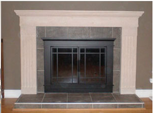 Pleasant Hearth Glass Fireplace Door Easton Black fireplace