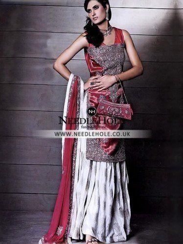 Persian Red Indian Bridal Gharara Suit In Saltley Birmingham Uk Stanibridaldresses Indianstaniweddinggown