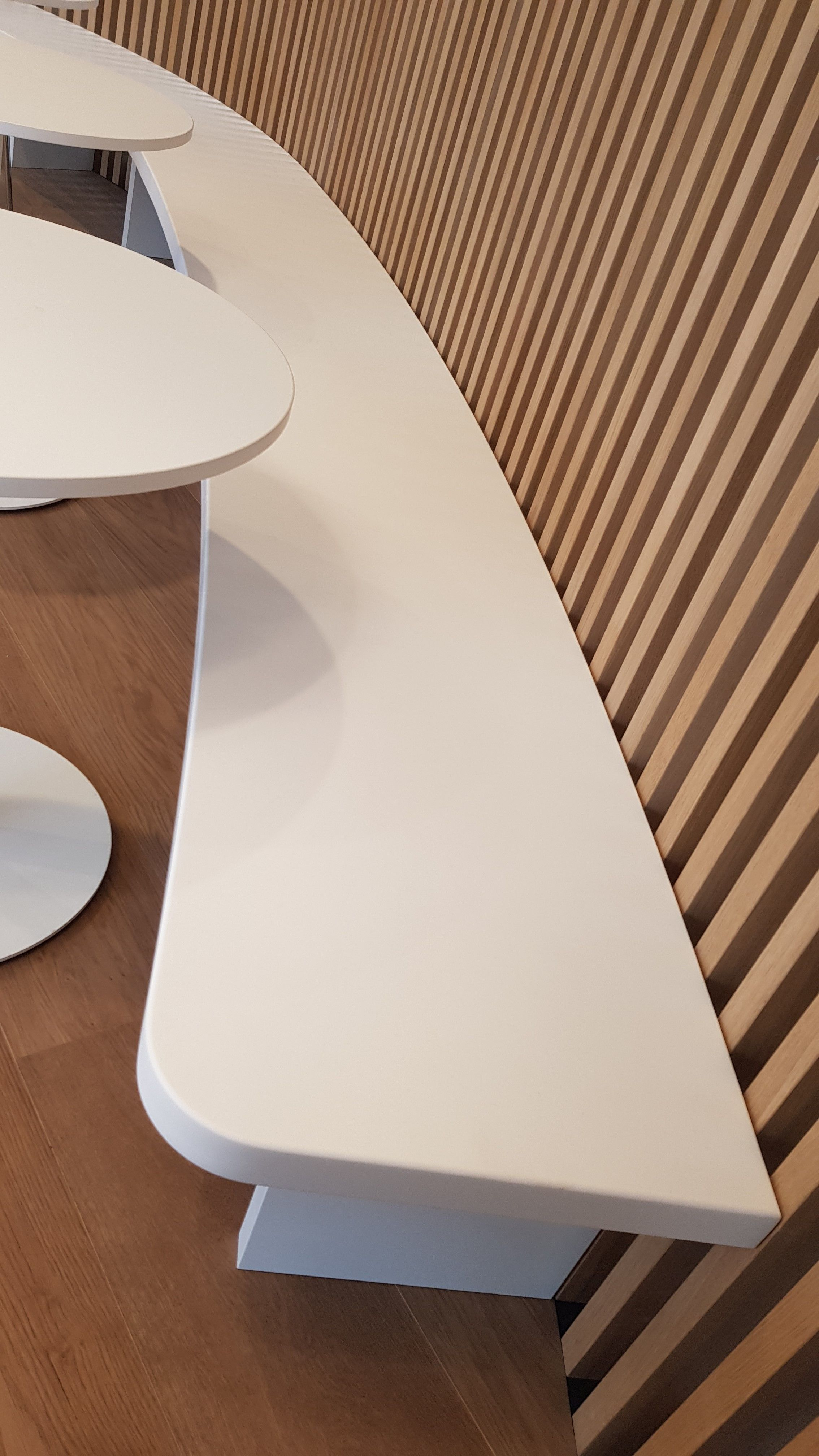 Banquette Solid Surface Solidsurface Design Agencement