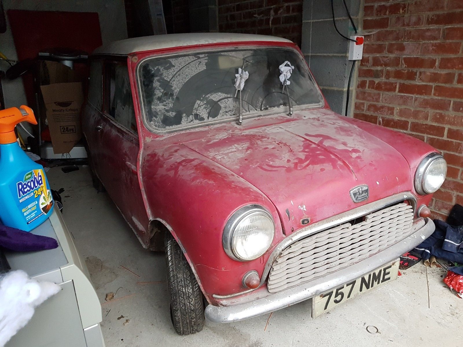 1961 Austin 7 Mini Barn Find Restoration Project Barn Find Restoration Barn Finds Mini