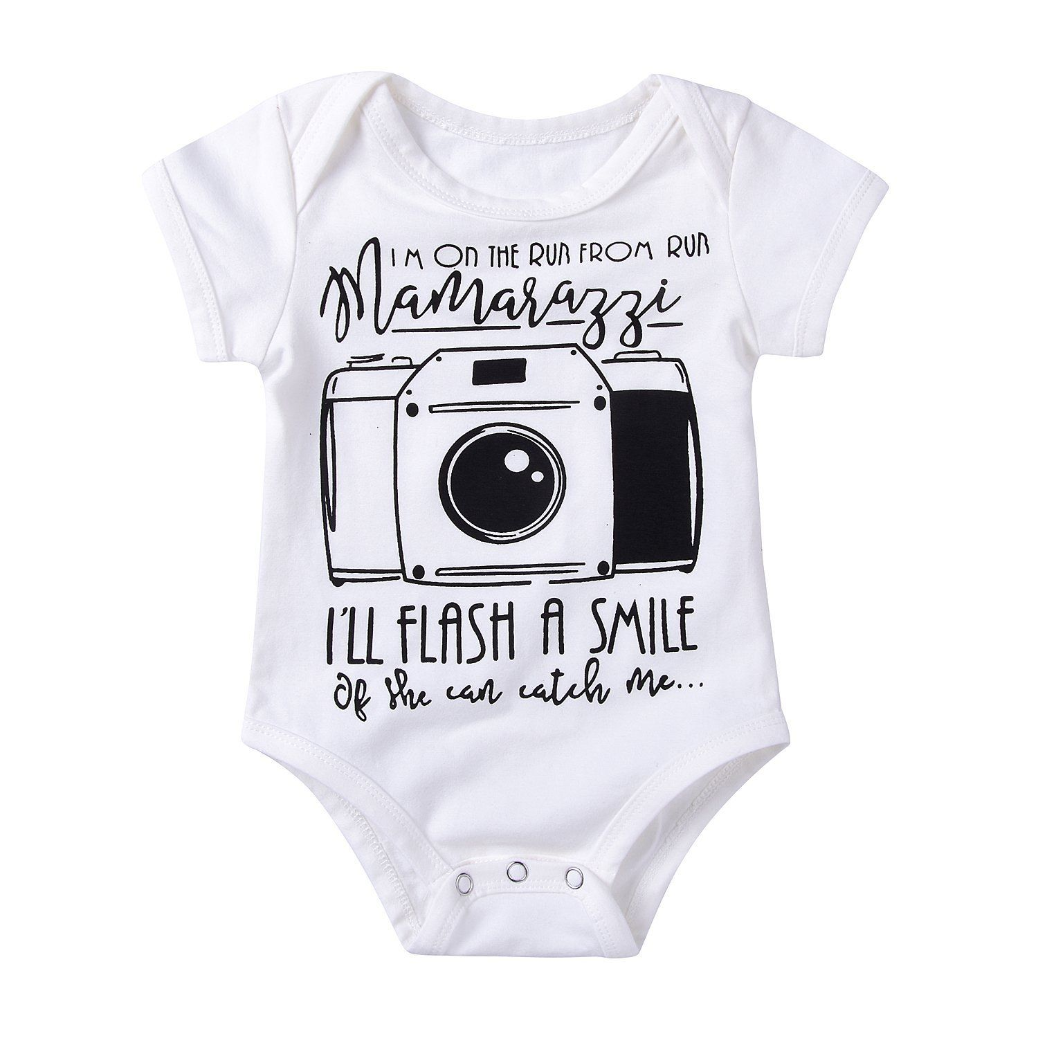 Royal Flush Fashion Newborn Baby Short Sleeve Bodysuit Romper Infant Summer Clothing