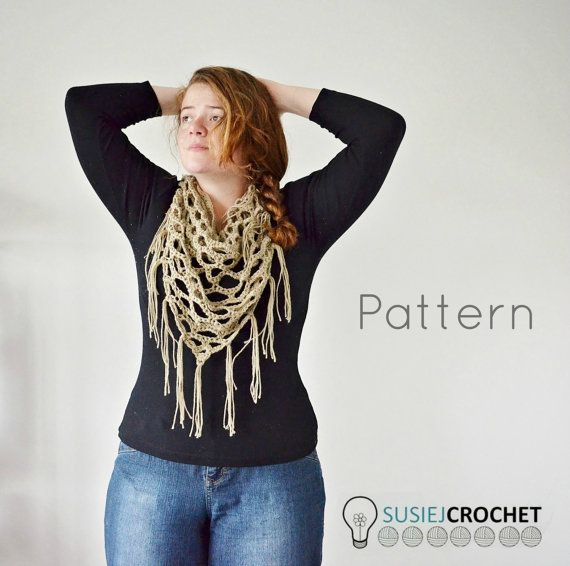 Holey Moley Triangle Scarf Crochet Pattern   crochet   Pinterest