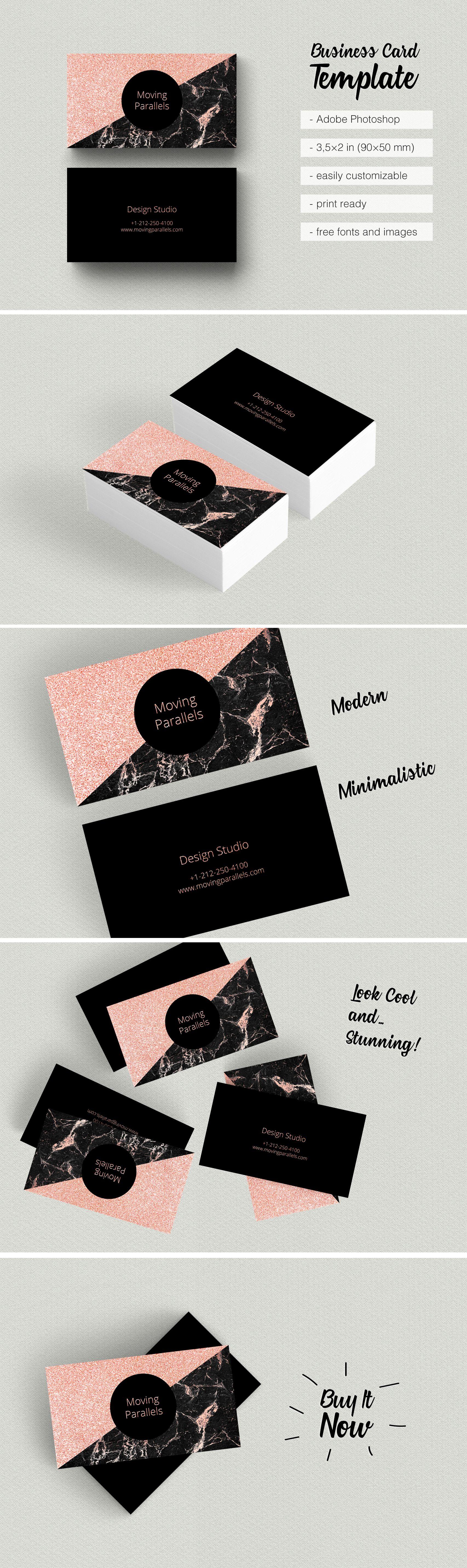 Canva Rose Gold White Black Marble Glitter Foil Business Etsy Visiting Card Templates Rose Gold Business Card Gold Business Card