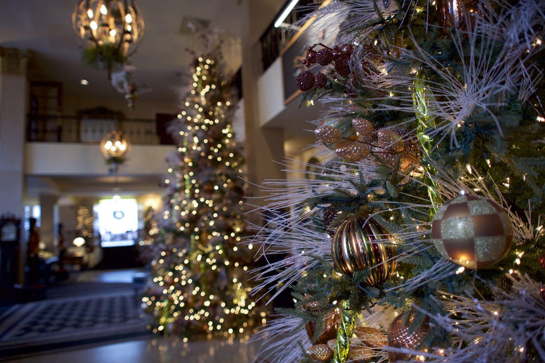 Christmas decorations at the Hotel Bethlehem January 16, 2017 ...