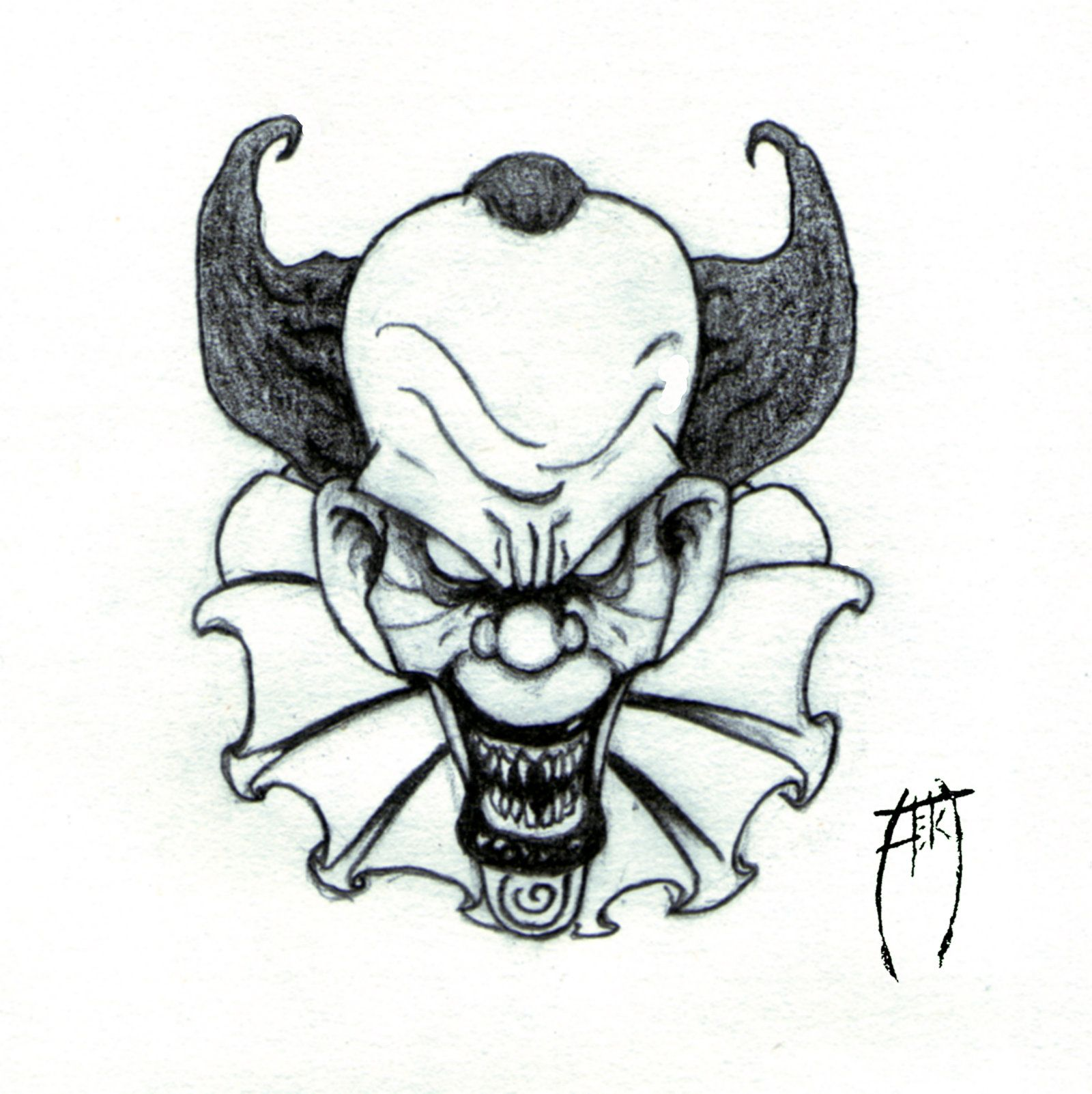 Evil Clown Drawings Google Search Tattoos Pinterest
