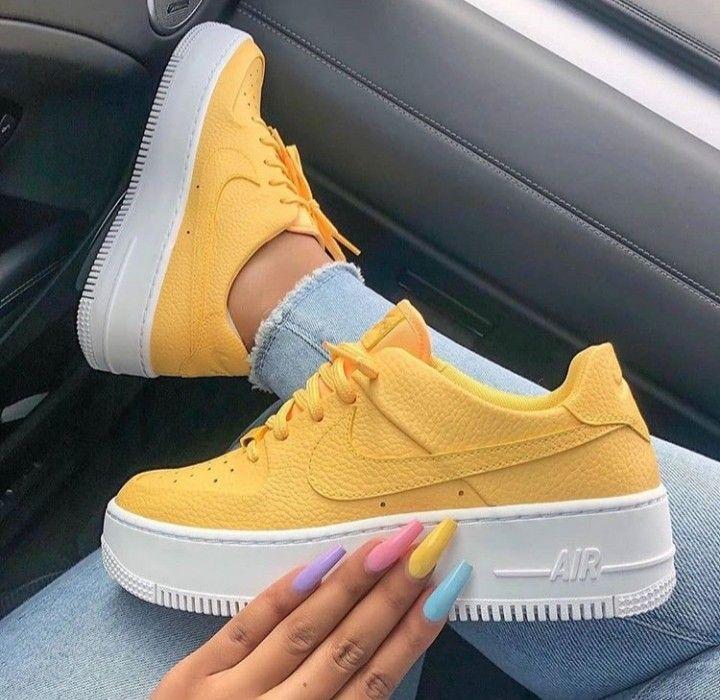 air force 1 mujer amarillas