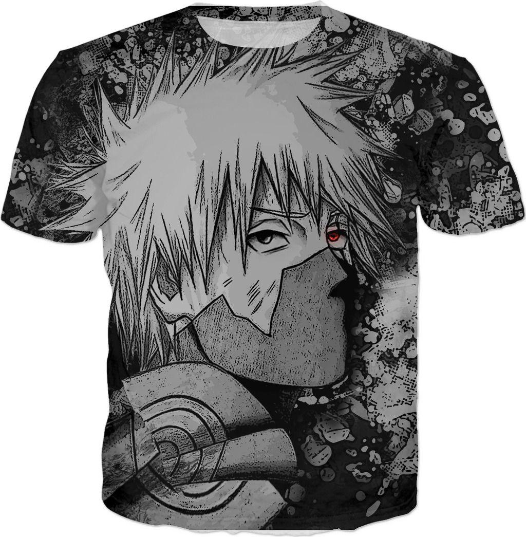 Kakashi Hatake sharingan all over t-shirt | Displate thumbnail