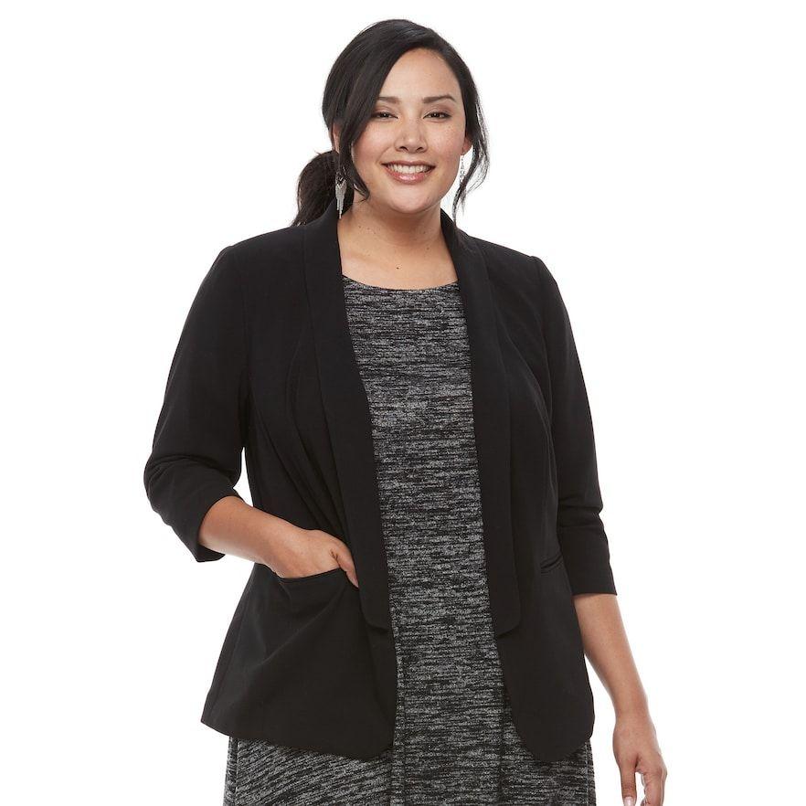 Plus Size Apt. 9® Shawl Collar Blazer | Plus size, Blazer