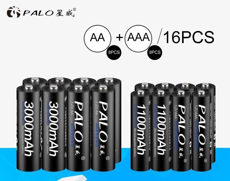 Buy Online 8pcs Palo 1 2v 3000mah Aa Rechargeable Battery And 8pcs 1100mah Aaa Rechargeable Batteries For Toys Car E Rechargeable Batteries Buy Online Toy Car