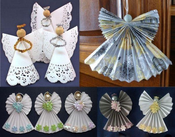 Faire des anges de Noël en pliage papier   Anges de noël