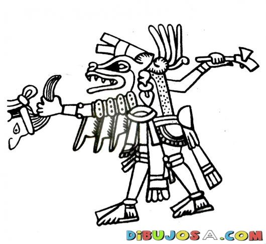 aztec murals coloring pages - photo#12