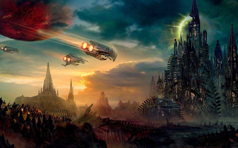 Fantasy futuristic artwork