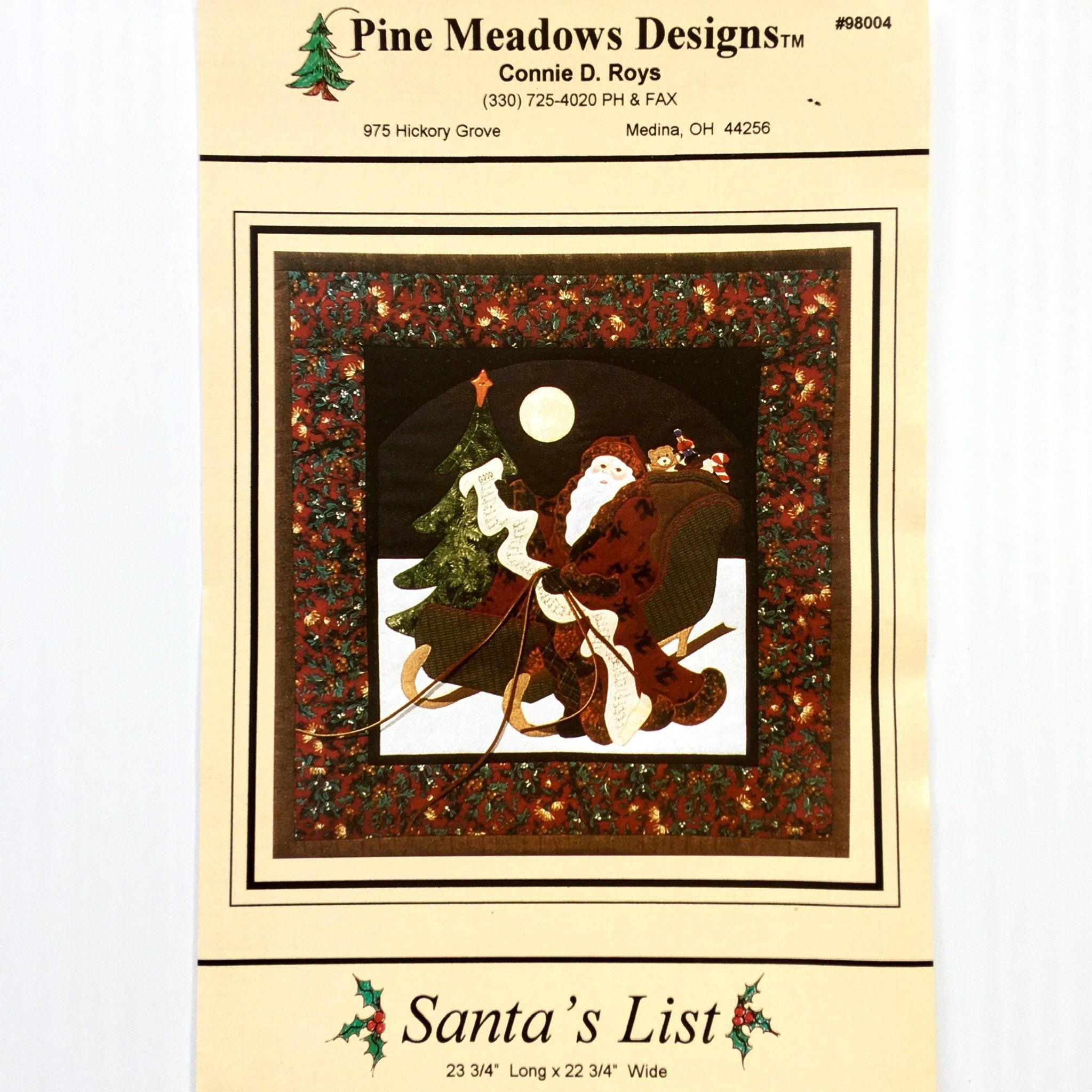Santa s List Christmas Quilt Pattern by Connie D Roys for Pine