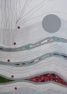 "Saatchi Online Artist Virginie Gallois; Painting, ""Paysage sédimentaire #3"" #art"