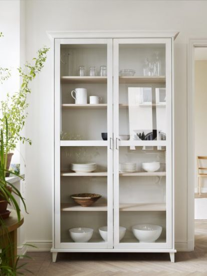 Example Of Wall Of Shelves. Two Lots Of These With Glass Or Opaque Doors. Kitchen  CupboardKitchen ...